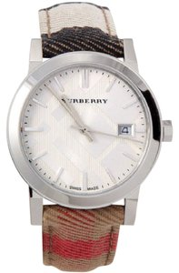 Burberry Women's Housecheck Fabric Strap Watch 34mm BU9151