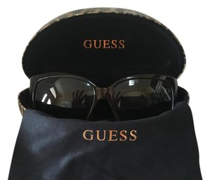 Guess Brown Tinted Lens Logo Sunglasses