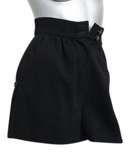 Chanel Gold Dress High Waist Mini/Short Shorts Black
