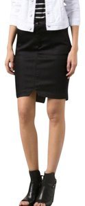 JOE'S Jeans Mini Casual Denim Stretchy Mini Skirt black