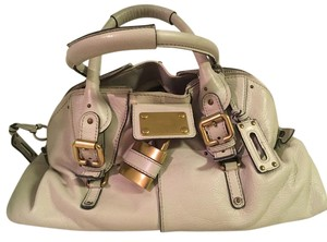 Chloé Leather Paddington Dome Satchel in Cream