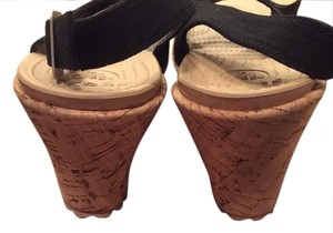 Crocs Black cork Wedges