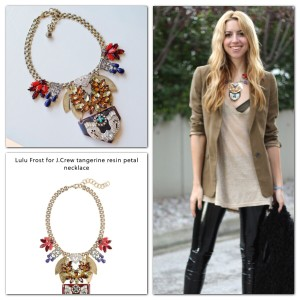Lulu Frost Lulu Frost for J.Crew tangerine Statement necklace