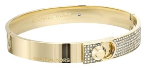 Michael Kors NIB MICHAEL KORS PAVE FOLD OVER BRACELET BANGLE GOLD TONE MKJ4902 $145