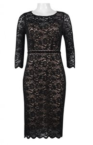 Alex Evenings Embellished Beaded Lace Sheath Dress