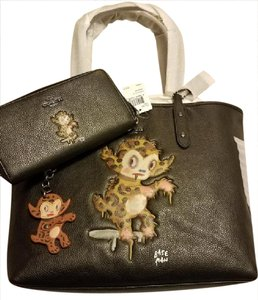 Coach City F57730 Gary Baseman Buster Le Fauve Tote in Black