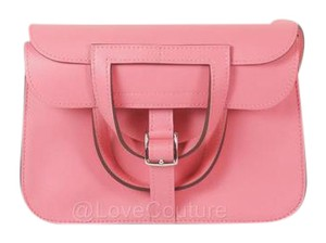 Hermès Halzan Mini Rose Pink Satchel in Rose Azalea