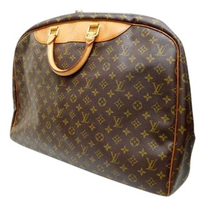 Louis Vuitton Alize Luggage Suitcase Monogram Carry On Brown Monogram Travel Bag