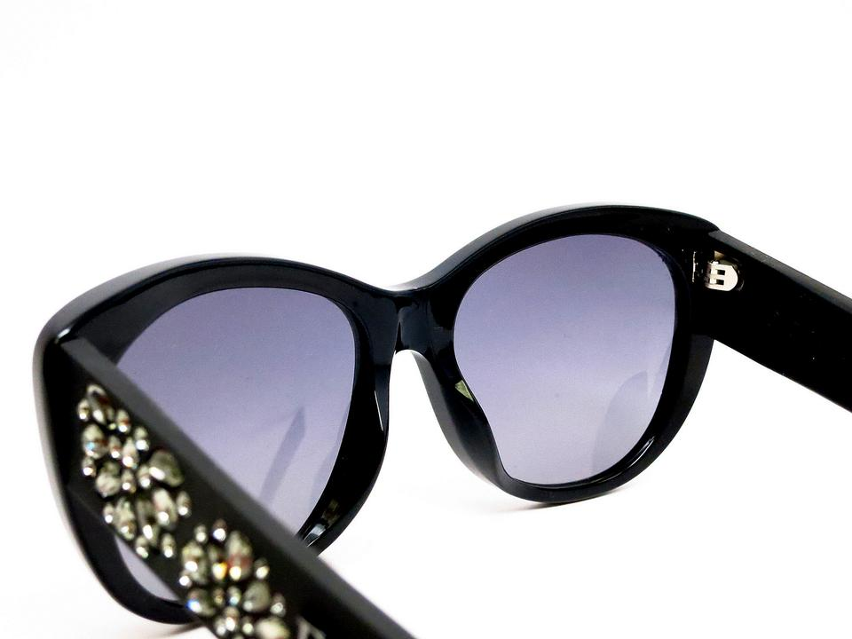 e0dbe93cd8c1a Dior Black New Inedite F  39  Crystal Temple Cat Eye Made In Italy  Sunglasses
