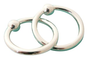 Tiffany & Co. Baby Rattle Tiffany & Co. Sterling Silver Double Ring with Box