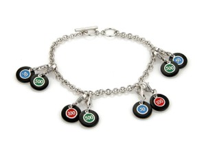 Roberto Coin #20507 Roberto Coin Sterling Poker Chip Charms Toggle Chain Bracelet