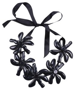 Marni Marni for H&M Black Acrylic Flower Statement Necklace