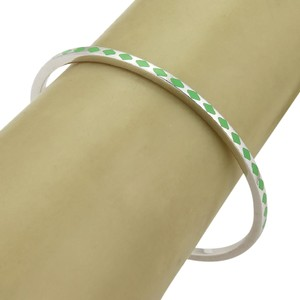 Roberto Coin #20508 Roberto Coin ART DECO Sterling Silver Green Enamel Bangle