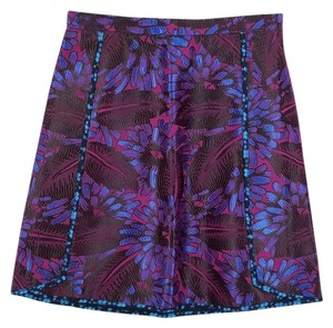 J.Crew Mini Size 00 Mini Skirt MULTI-COLORED - dark colors