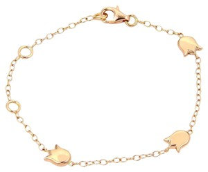 Cartier 18kt Rose Gold Tulip Floral 3 Charm Bracelet With Box & Certificate