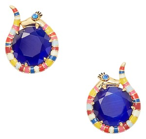 Kate Spade New Kate Spade Spice Things Up Snake Stud Earrings Blue