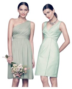 J.Crew Dusty Shale Silk Chiffon Kylie In / Petite / Color: Feminine Bridesmaid/Mob Dress Size 8 (M)