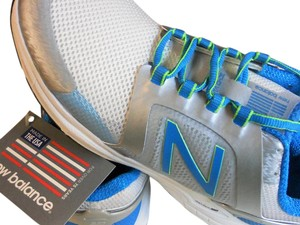 New Balance white with grey and turqouise Athletic