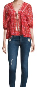 Free People Top red combo