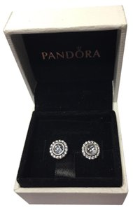 PANDORA Pandora clear brilliant legacy earrings in original pandora box