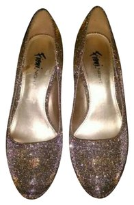 Fioni Shimmery gold & silver Pumps