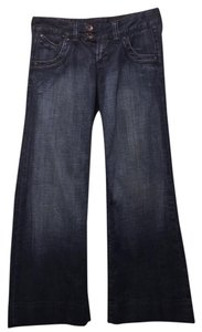 Express Trouser/Wide Leg Jeans-Dark Rinse