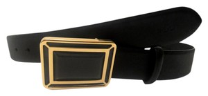 Ralph Lauren Gold Faceted Art Deco Plaque Belt Medium