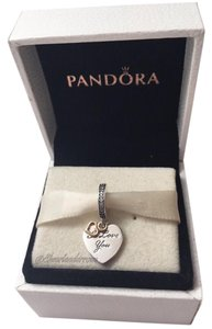 PANDORA Pandora I love you forever charm 14kt in original gift pouch