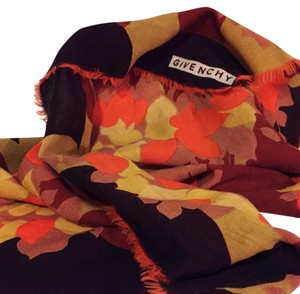 Givenchy vintage mid century 1970s abstract floral original givenchy hand made scarf wrap