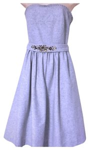 Banana Republic Elegant Light Grey Cocktail 12 Dress