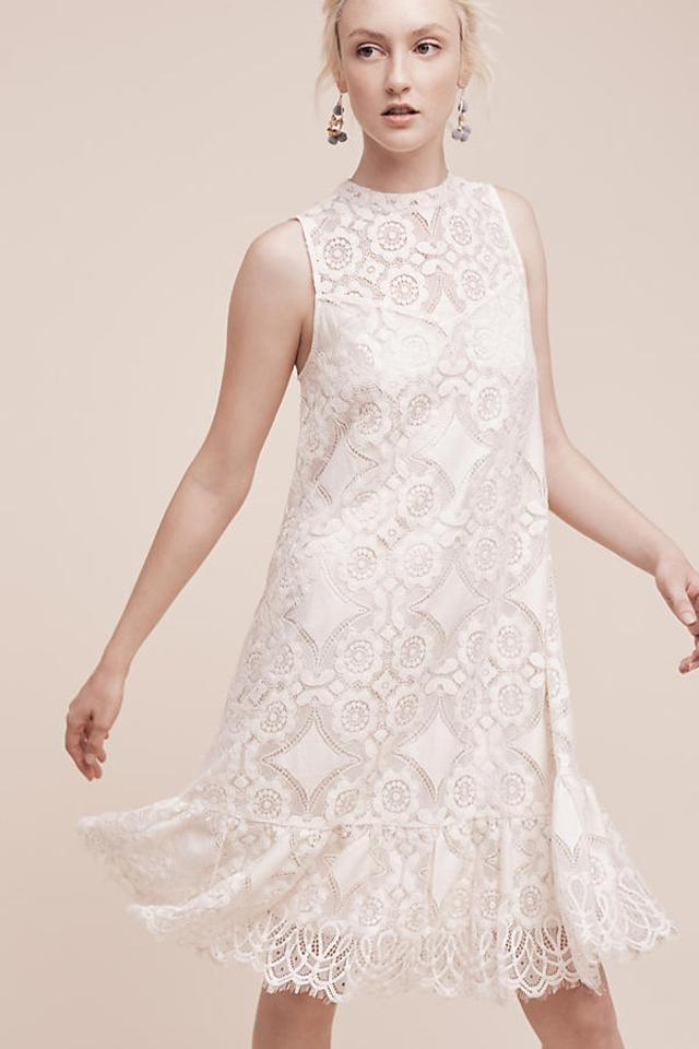 865621d6201b Anthropologie White Manon Lace By Floreat Mid-length Cocktail Dress ...