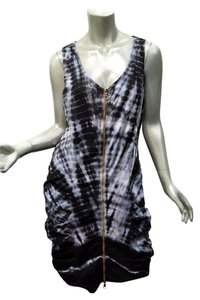 XCVI short dress Gray Tie Dye Ruched Fitted Stretch Bodycon on Tradesy