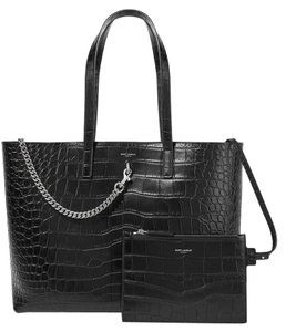 Saint Laurent Ysl Shopping Carry On Tote in Black