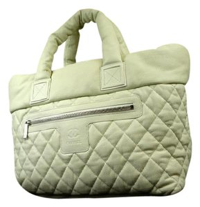 Chanel Cocoon Jumbo Puffy Tote in White