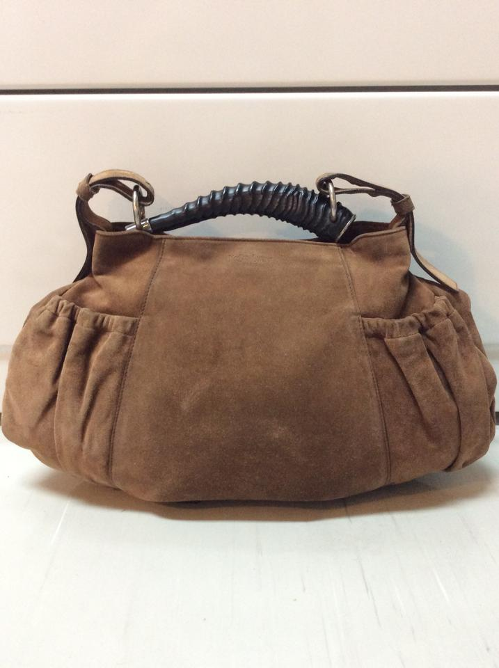 a84ee51442 Saint Laurent Mombasa Ysl Brown Suede Leather Hobo Bag 79% off retail