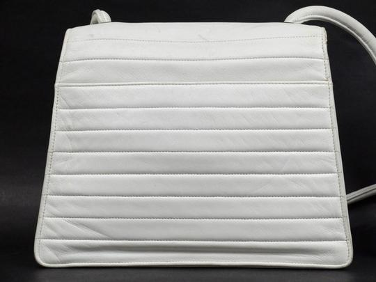 98c0dcd39a39 Chanel Camera Cc Rare Quilted Flap 216299 White Leather Shoulder Bag ...