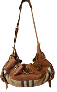 Burberry Satchel in Brown and Multi color