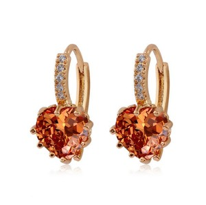 Other New 10K Gold Filled French Hook Earrings Cubic Zirconia J3269