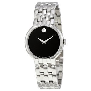 Movado Movado Classic Black Dial Stainless Steel Mens Watch 0606337