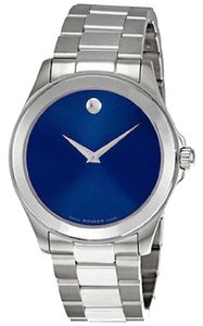 Movado Movado Junior Sport Blue Dial Stainless Steel Men's Watch 0606116