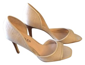 Charles David Open Toe D'orsay Tan/Nude Pumps