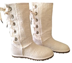 UGG Australia Cold Weather Sweater Natural Boots