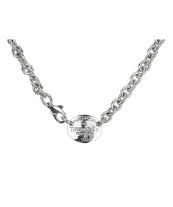 Tiffany & Co. Silver Return to Tiffany Oval Tag Necklace