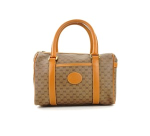 Gucci Boston Leather Tote in Brown