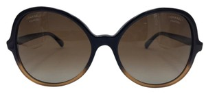 Chanel Chanel Oval Summer Black and Brown Sunglasses 5351 c.1556/S9 59