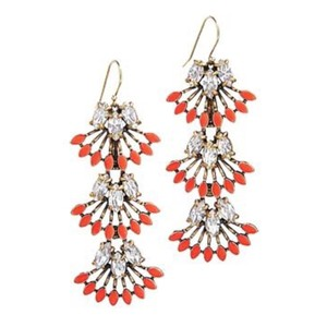 Stella & Dot Stella & Dot Coral Cat Earrings