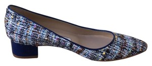 Manolo Blahnik multi blue white brown Pumps