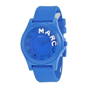 Marc by Marc Jacobs NWT Sloane Blue Silicone Strap Watch