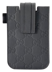 Gucci GUCCI Monogram Guccissima iPhone 4/4S iPod Case Gray 240188 1370