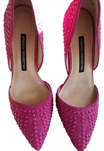 French Connection Suede Studded Pink Pumps